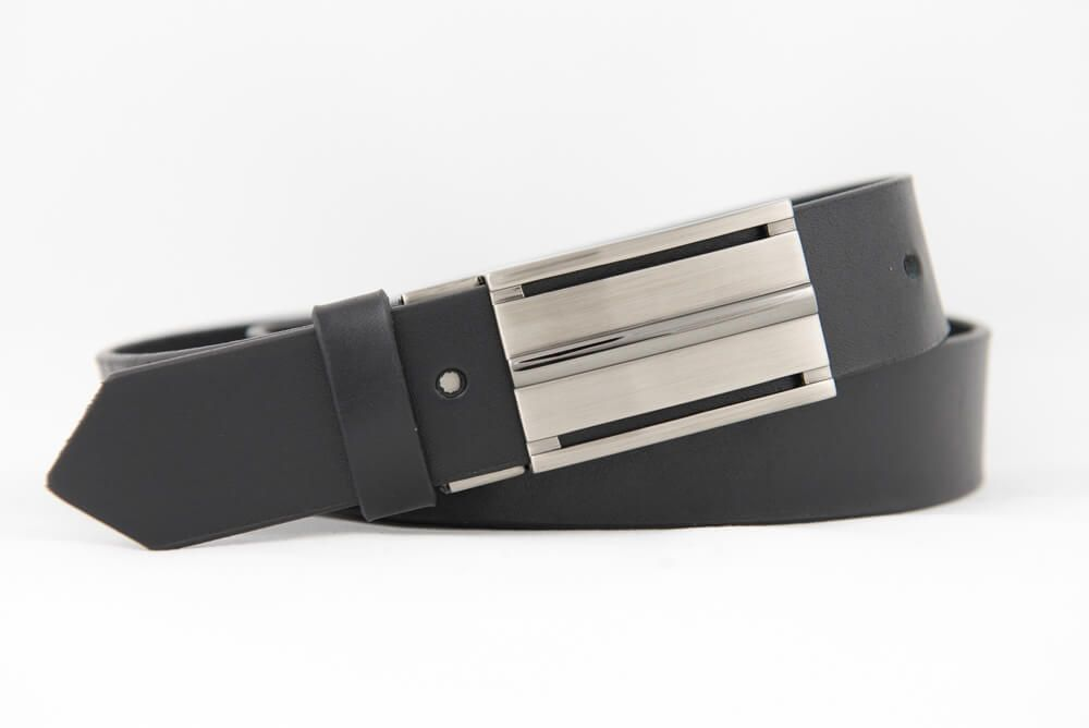 83e5bdc61 Úzký opasek BLACK s plnou sponou | Opasky Jurča